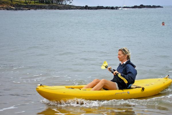 Angela Simpson kayaking