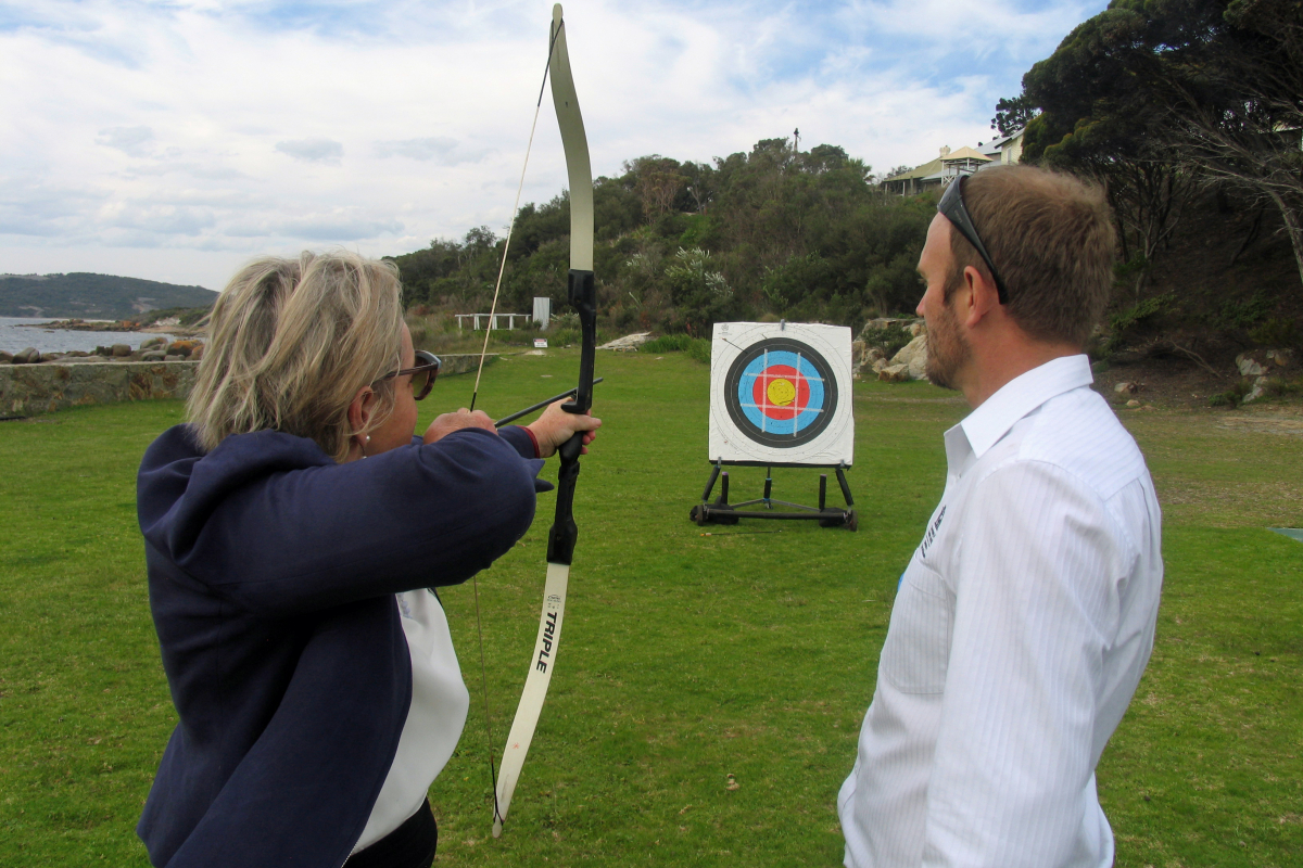 Alannah MacTiernan archery